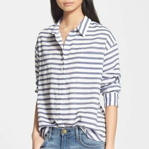 Elizabeth James Emmanuelle Stripe Shirt XS R45